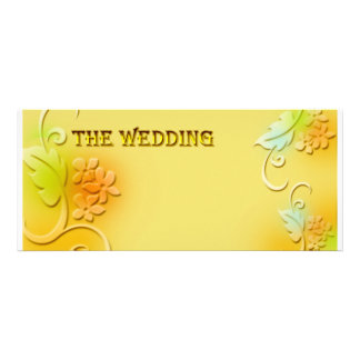 gold yellow personalized announcement