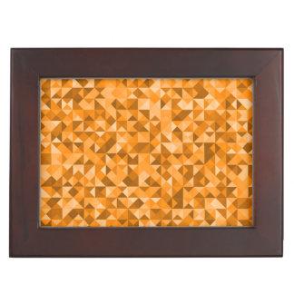 Gold Yellow Monogramed Triangle Keepsake Box