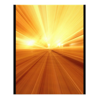 Gold Yellow Orange Abstract Zoom Blur Flyer