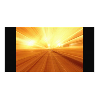 Gold Yellow Orange Abstract Zoom Blur Photo Greeting Card
