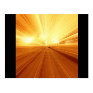 Gold Yellow Orange Abstract Zoom Blur Post Cards