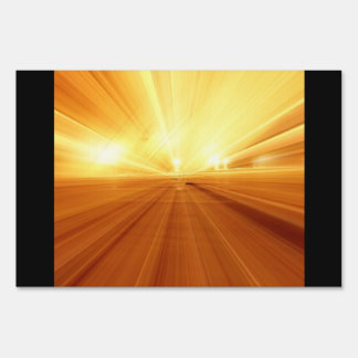 Gold Yellow Orange Abstract Zoom Blur Lawn Sign