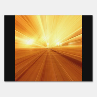 Gold Yellow Orange Abstract Zoom Blur Signs