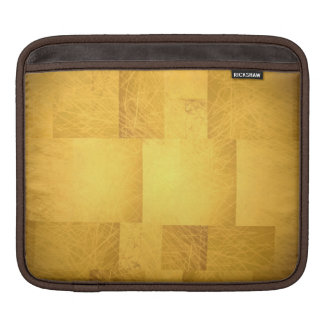 Gold Yellow Orange Artistic Scribbles Scratches iPad Sleeve