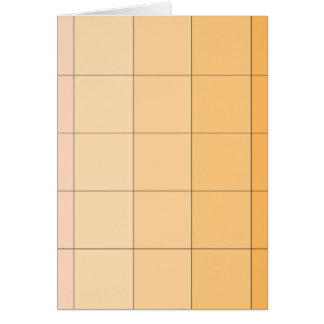 Gold Yellow Square Ombre Customizable 2 Greeting Card