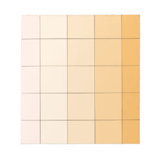 Gold Yellow Square Ombre Customizable 2 Memo Notepads