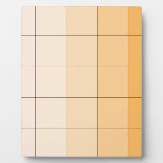 Gold Yellow Square Ombre Customizable 2 Plaques