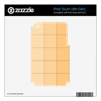 Gold Yellow Square Ombre Customizable 2 Skins For iPod Touch 4G
