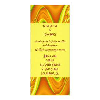 gold yellow wedding invitation