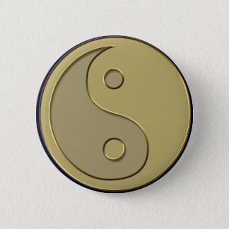 gold yin yang button