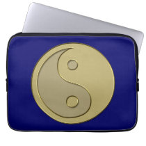 gold yin yang computer sleeve
