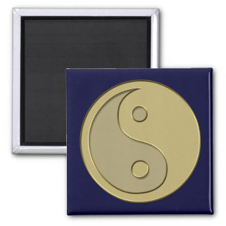 gold yin yang magnet