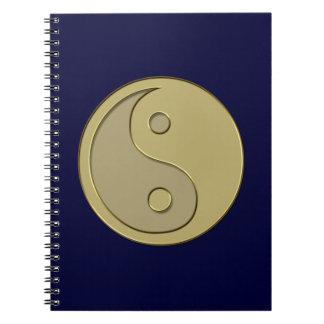 gold yin yang notebook