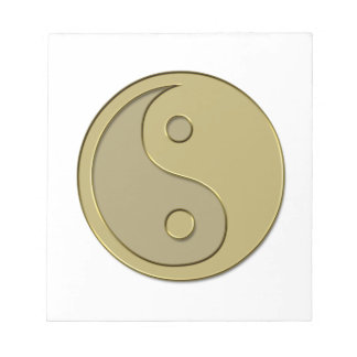gold yin yang notepad