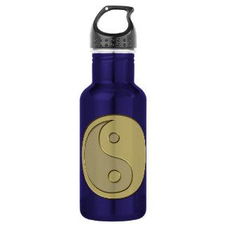 gold yin yang 18oz water bottle