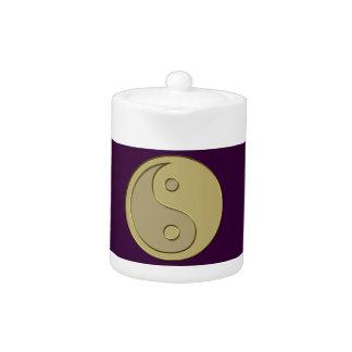 gold yin yang teapot