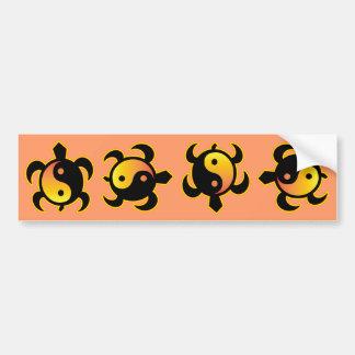 Gold Yin Yang Turtle Bumper Stickers