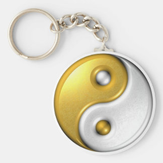 Gold Ying Yang Keychain