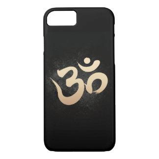 Gold Yoga Om Symbol Dark iPhone 7 Case