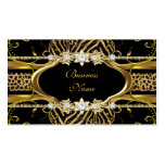 Gold Zebra Leopard Black Jewel Look Image Business Card