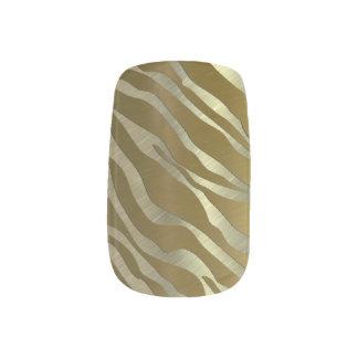 Gold Zebra Metal Textured Minx ® Nail Art