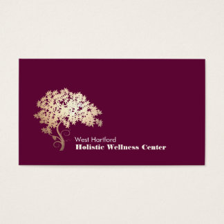 Gold Zen Tree Holistic and Alternative Health 1 Business Card