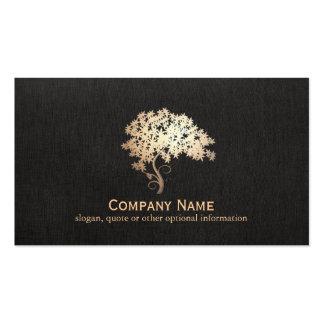 Gold Zen Tree Logo Business Card