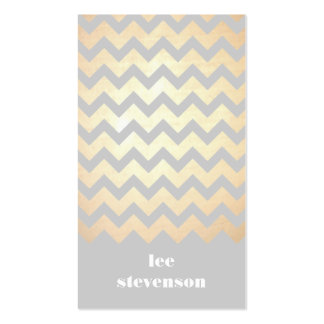 Gold Zig Zag Pattern and Gray Business Card