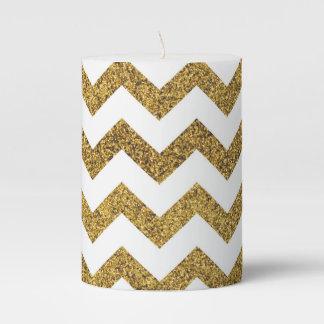 gold zigzag pillar candle