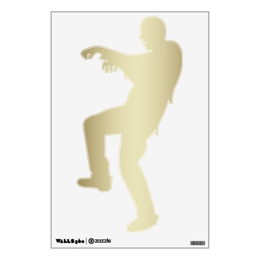 GOLD ZOMBIE SILHOUETTE WALL DECAL