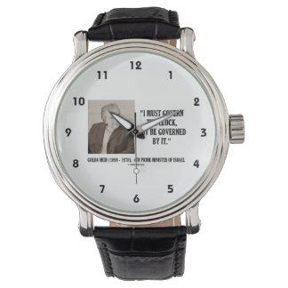 Golda Meir I debe gobernar la cita del reloj