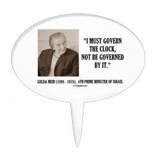 Golda Meir I debe gobernar la cita del reloj Figura De Tarta