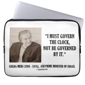 Golda Meir I debe gobernar la cita del reloj Funda Ordendadores