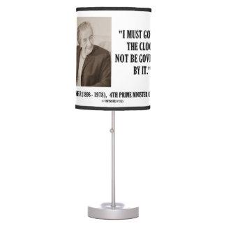 Golda Meir I debe gobernar la cita del reloj Lámpara De Mesa