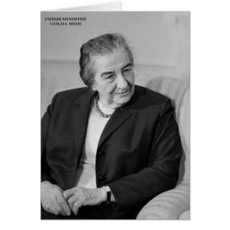 Golda Meir, Israeli Prime Minister Cards