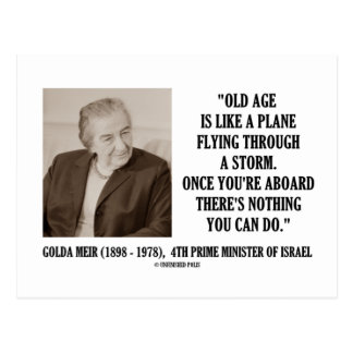 Golda Meir Old Age Nothing You Can Do (Humor) Post Card