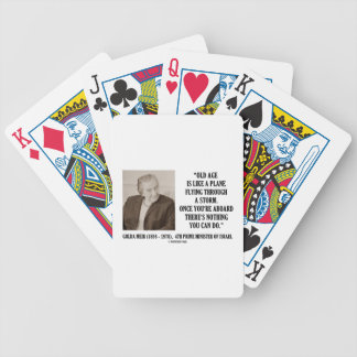 Golda Meir Old Age Nothing You Can Do Humor Quote Bicycle Playing Cards