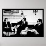 Golda Meir, presidente Nixon, y Henry Kissinger Impresiones
