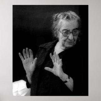 Golda Meir, primer ministro israelí Poster