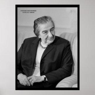 Golda Meir, primer ministro israelí Póster