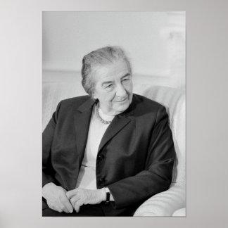 Golda Meir - primer ministro israelí Póster