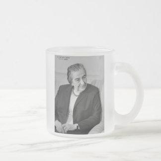 Golda Meir, primer ministro israelí Tazas