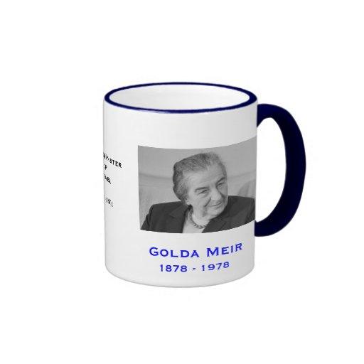Golda Meir*, taza de Israel