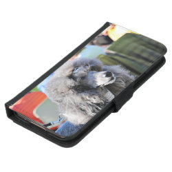 Galaxy S5 Wallet Case with Poodle Phone Cases design