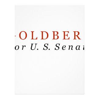 Goldberg for US Senate Letterhead