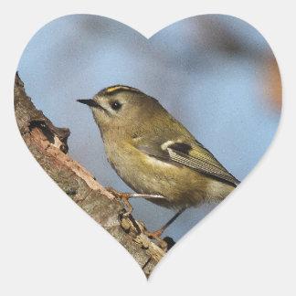 Goldcrest Heart Sticker