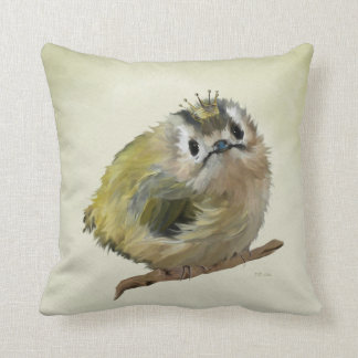 Goldcrest with Crown Throw Pillow