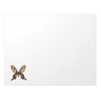 Golddust Butterfly Notepad
