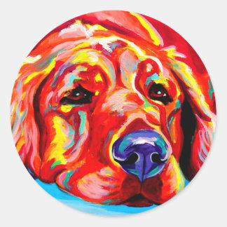 Golden #2 round stickers
