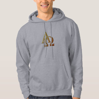 "Golden ""3-D"" Alpha and Omega Symbol Hoodie"